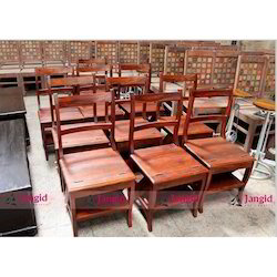 Jangid Art and Crafts Brown Wooden Restaurant Chairs