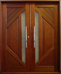 Double Wood Doors, Doors And Windows | Anbusowmiya Wood Work Private ...