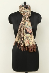 Indian Kantha Cotton Overdyed Scarf