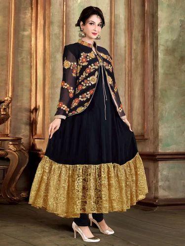 497aa7299ba Chanderi Party Wear Ladies Designer Suit