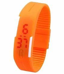 Rubber Bracelet LED Watch