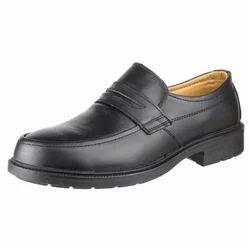 皮革黑色抗静电鞋