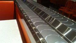 Aluminium Flexible Sushi Conveyor, Length: 1-10 feet