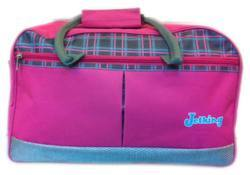 Pink Polyester Personalized Duffle Bags for Travel