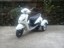 Side Wheel Attachment on TVS Two Wheeler