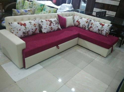 L Shape Sofa Cum Bed With Storage