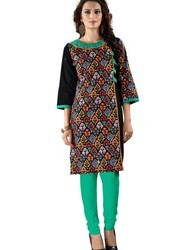 Straight Fit Printed Cotton Kurti
