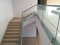 Steel Glass Railing Side Fitting