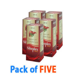 Pack of Five Sibeplex Syrup Liver Tonic