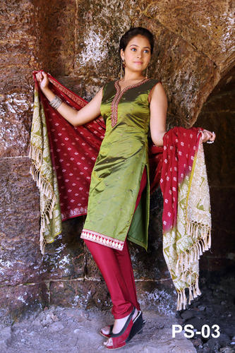 Traditional Silk Salwar Kameez, Silk Apparel, Clothings & Fabrics ...