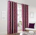 Designer Wine Printed Door / Window Curtain