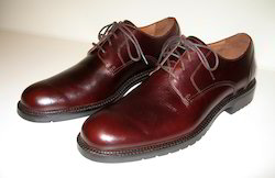 Maroon Brown Genuine Leather Shoes, Size: 9