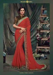 Silk Machine Designer Saree, 6.3 m (with blouse piece)