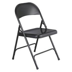 Black Coated Foldable Steel Chair