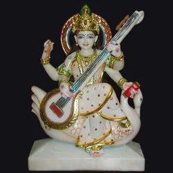 Marble Saraswati Mata Statue