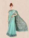 Linen Madhubani Saree