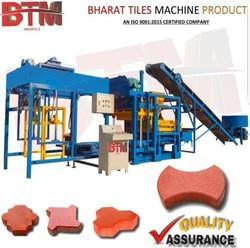 Semi Automatic Interlocking Tiles Making Machine