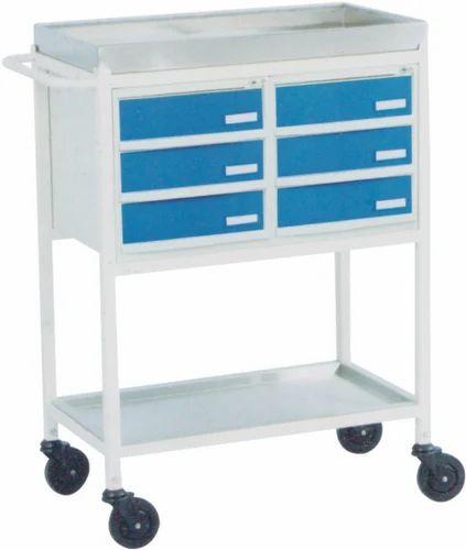 Medicine Trolley( with 6 plastic drawers), Drug Trolley, हॉस्पिटल मेडिसिन  ट्रॉली, अस्पताल की दवा ट्रॉली - Aristo Health Care, New Delhi | ID:  11799524297