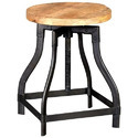 K D Craft Exports Industrial Iron Wooden Round Stool