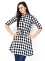 Cotton Check Tunics Tops