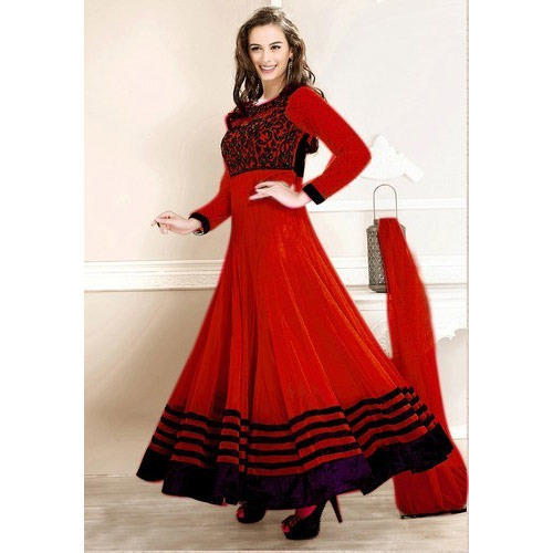 e281da1466 Ladies Red Anarkali Suit at Rs 5600 /piece(s)   Anarkali, Anarkali ...