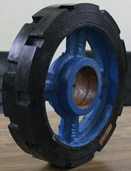 Rubber Bonded CI Wheel 12 x 2.5