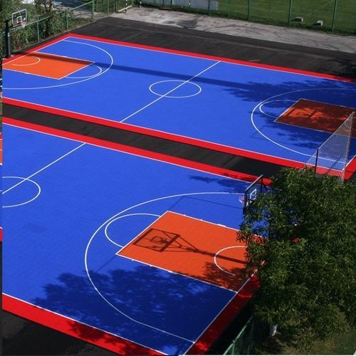 Synthetic Basketball Court At Best, Outdoor Basketball Court Paint Ideas