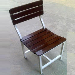 Chair Wooden Strips On Seat & Back