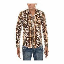 Multicolor Full Mens Printed Cotton Shirt