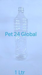 Pet 24 Transparent Clear Water Bottle, Capacity: 1 Liter