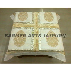 Designer Table Cover Silk Embroidery Boota