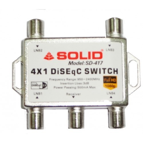 Coaxial Switch Ms Sd 417 Diseqc 2 0 Switch 4in1