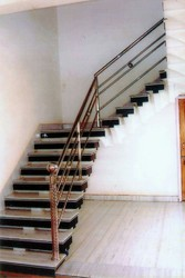 Steel Stairs Railing, For Home