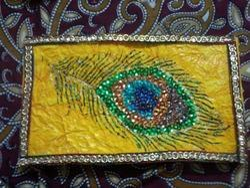 Handmade Peacock Feather Envelop