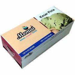 Kesar Pista Ice Cream Brick