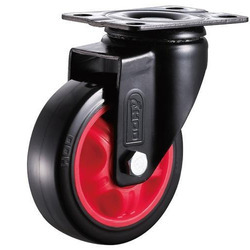 Plate Type Medium Duty Ball Bearing Caster Wheel, Size (inches): 3, 4 And 5