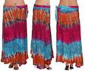 Colorful Rayon Wrap Skirt