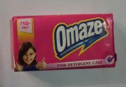 Omaze Pink Detergent Cake, Shape: Rectangle