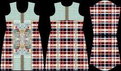 Digital Printed Kurtis Crape Fabrics