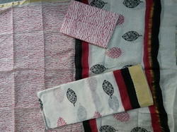 Chanderi Gicha Border Suit