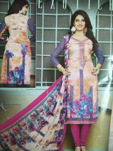 fceba1c8ea Cotton Peach & Magenta Ladies Designer Suit, Rs 850 /piece | ID ...