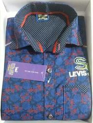 Extra gold Blue and black and golden Boys shirts, Size: Medium and 22 TO 36