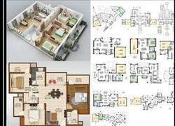 2d Plan Of The Construction Of New House