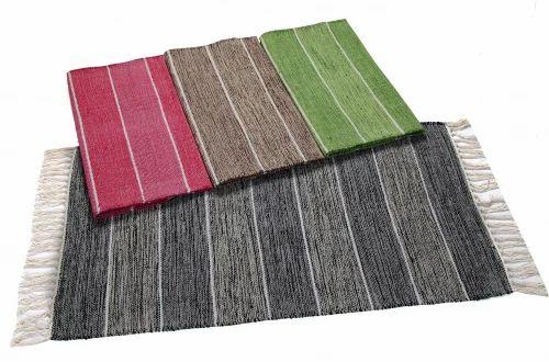 Flat Weave Cotton Rug क टन फ ल ट व