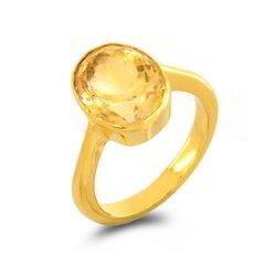 Transparent Yellow Sapphire Ring