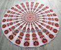 Beach Mandala Round Tapestry