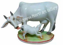 Marble Cow Moorti