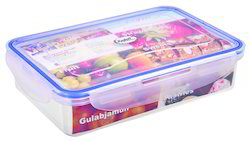 900 ml Plastic Locked Airtight Rectangular Container