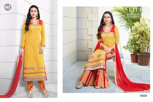 9b08e6665c Best Yellow Georgette Pakistani Suit at Rs 1195 /piece(s ...