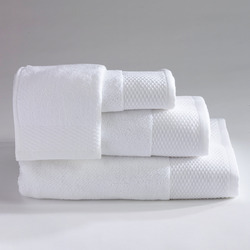 Saana White Fine Cotton Terry Towels, For Hotel, 250-350 GSM